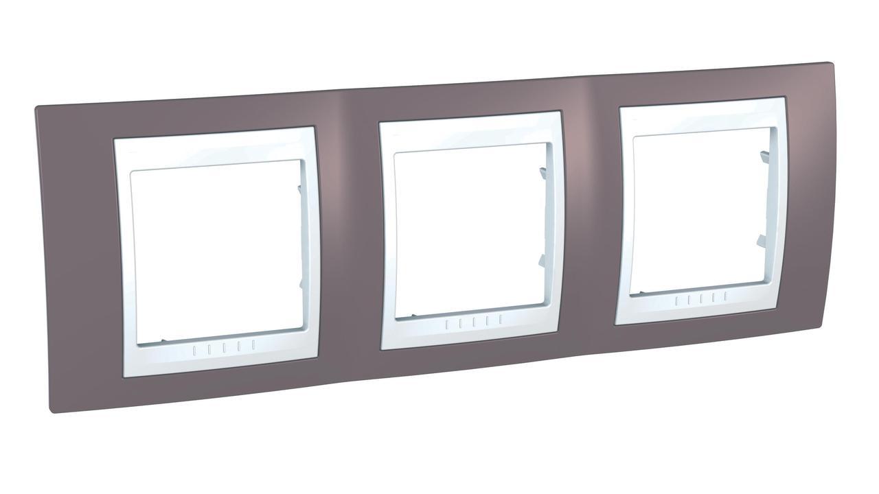 Рамка 3-ая (тройная), Лиловый/Белый, серия Unica, Schneider Electric