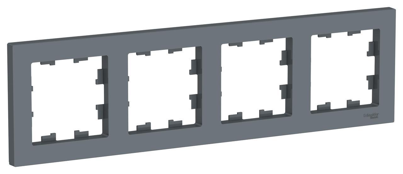 Рамка 4-ая (четверная), Грифель, серия Atlas Design, Schneider Electric