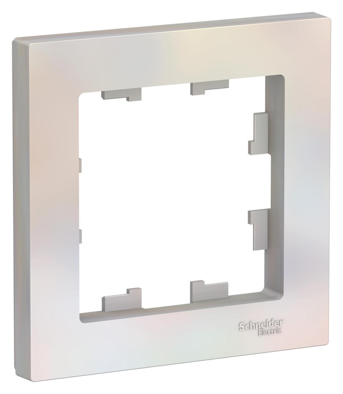 Рамка 1-ая (одинарная), Жемчуг, серия Atlas Design, Schneider Electric