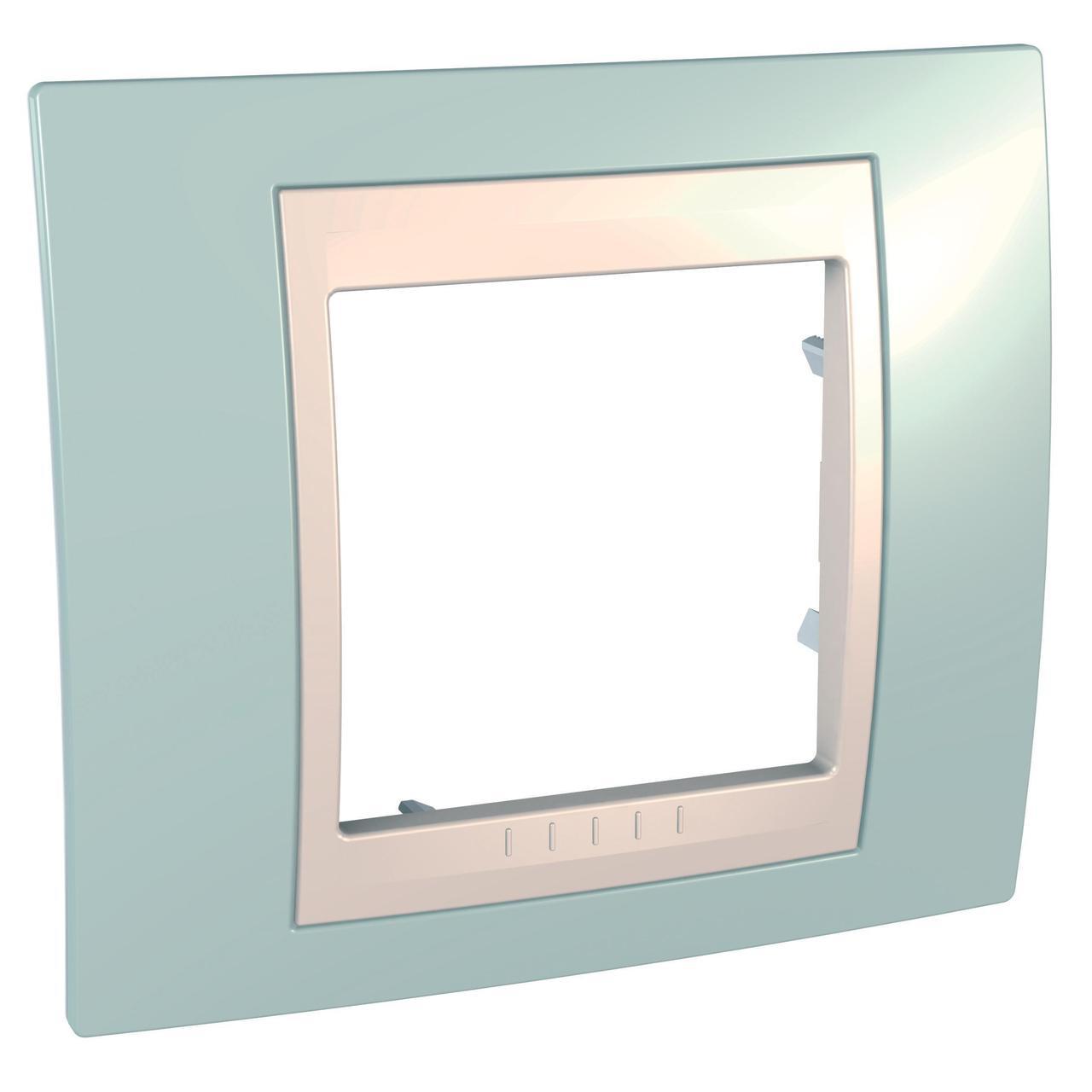 Рамка 1-ая (одинарная), Морская волна/Бежевый, серия Unica, Schneider Electric