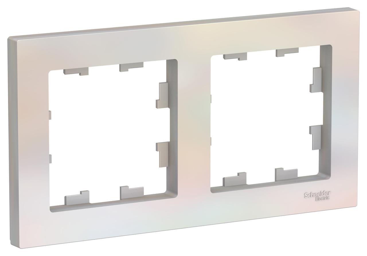 Рамка 2-ая (двойная), Жемчуг, серия Atlas Design, Schneider Electric