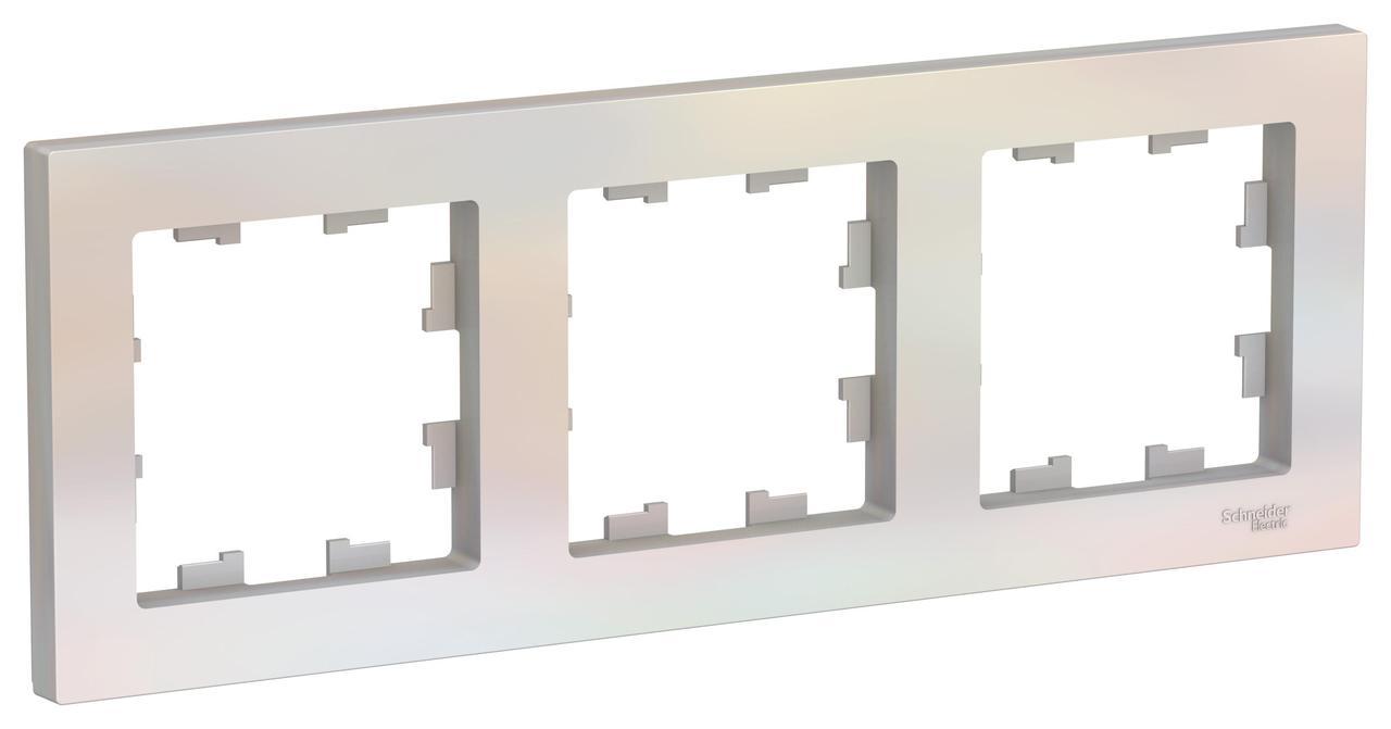 Рамка 3-ая (тройная), Жемчуг, серия Atlas Design, Schneider Electric