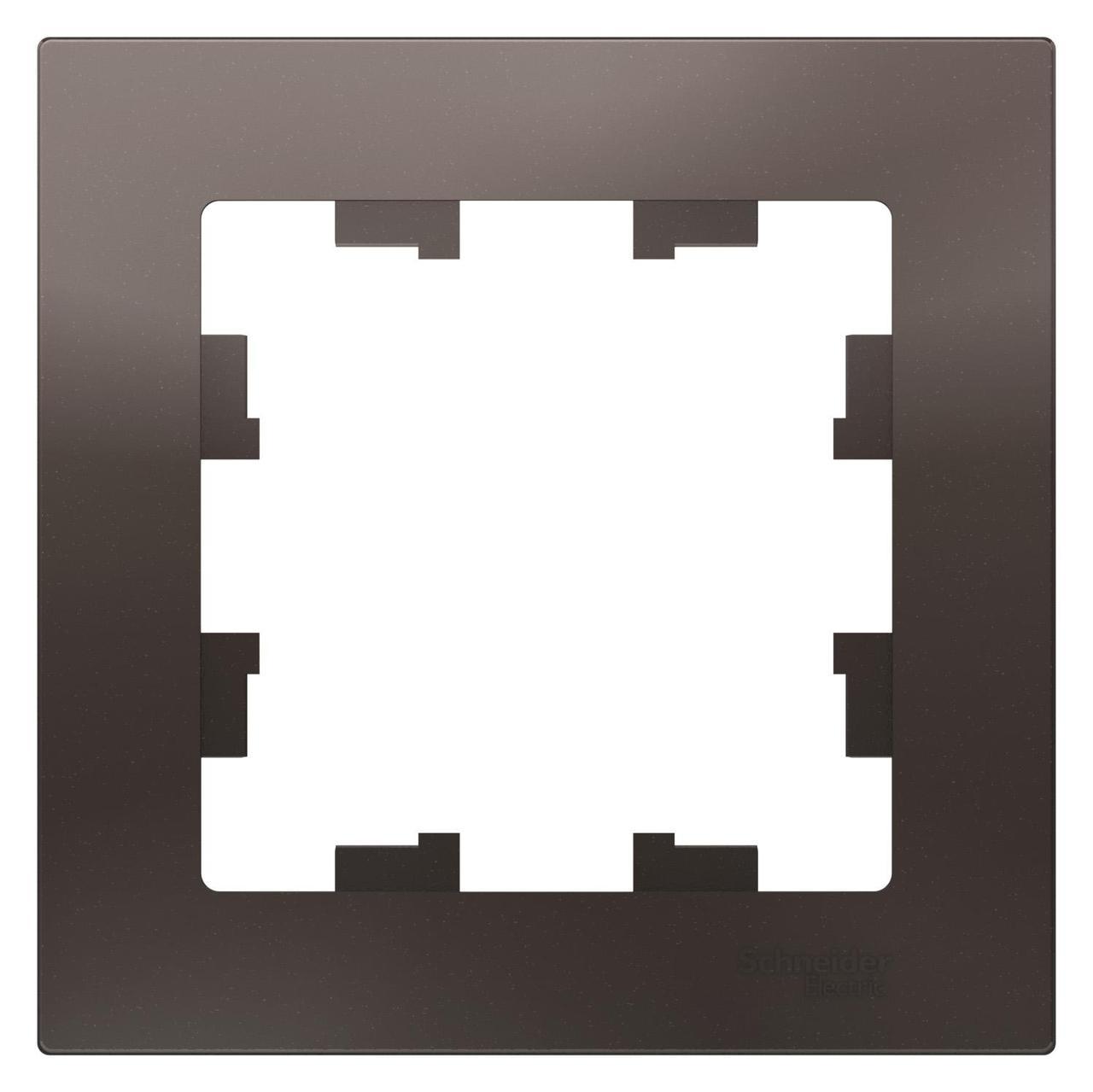 Рамка 1-ая (одинарная), Мокко, серия Atlas Design, Schneider Electric