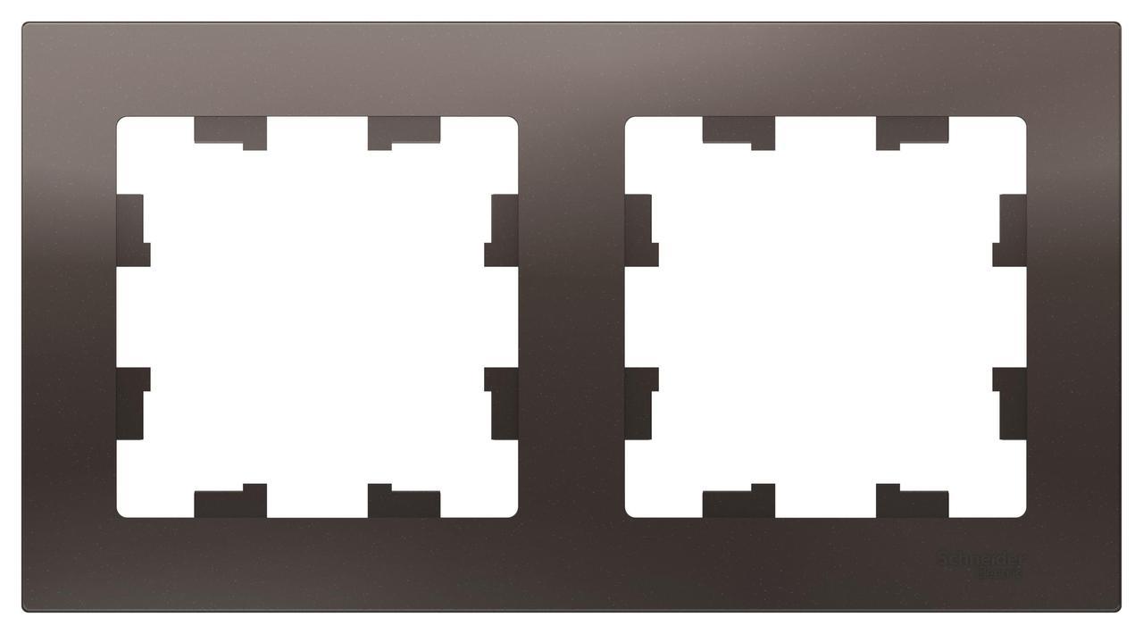Рамка 2-ая (двойная), Мокко, серия Atlas Design, Schneider Electric