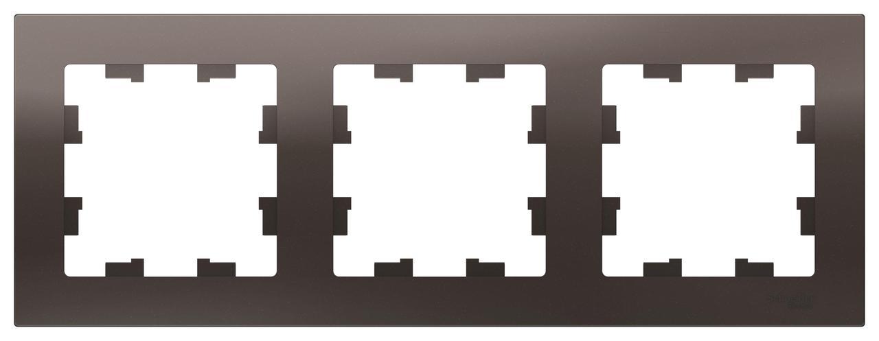 Рамка 3-ая (тройная), Мокко, серия Atlas Design, Schneider Electric