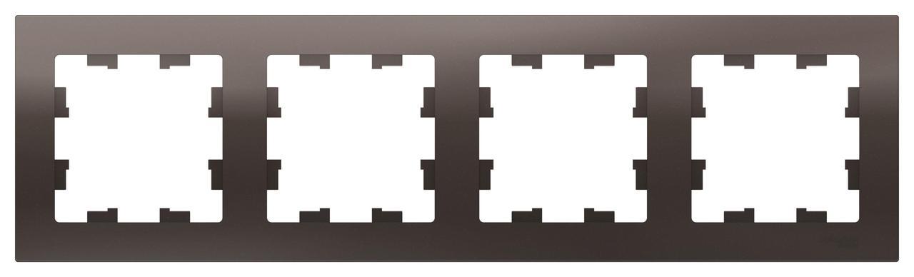 Рамка 4-ая (четверная), Мокко, серия Atlas Design, Schneider Electric