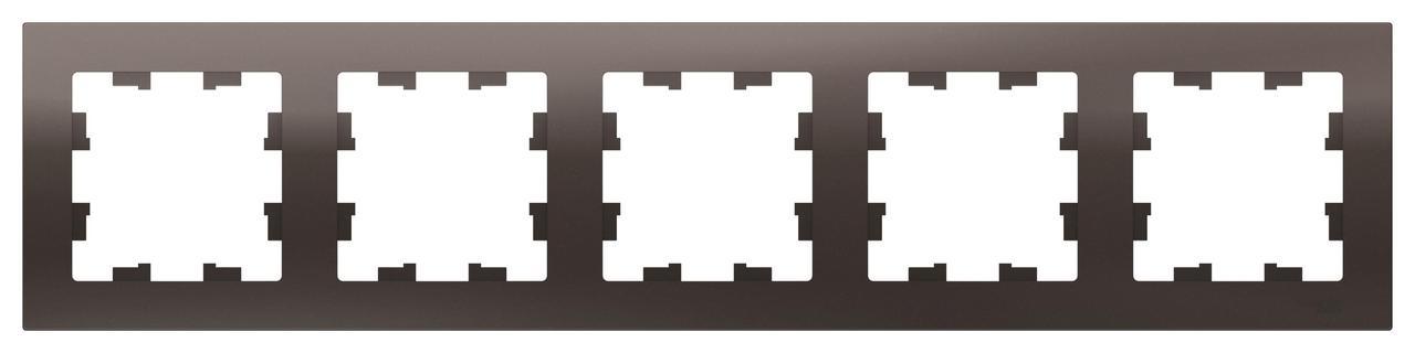 Рамка 5-ая (пятерная), Мокко, серия Atlas Design, Schneider Electric