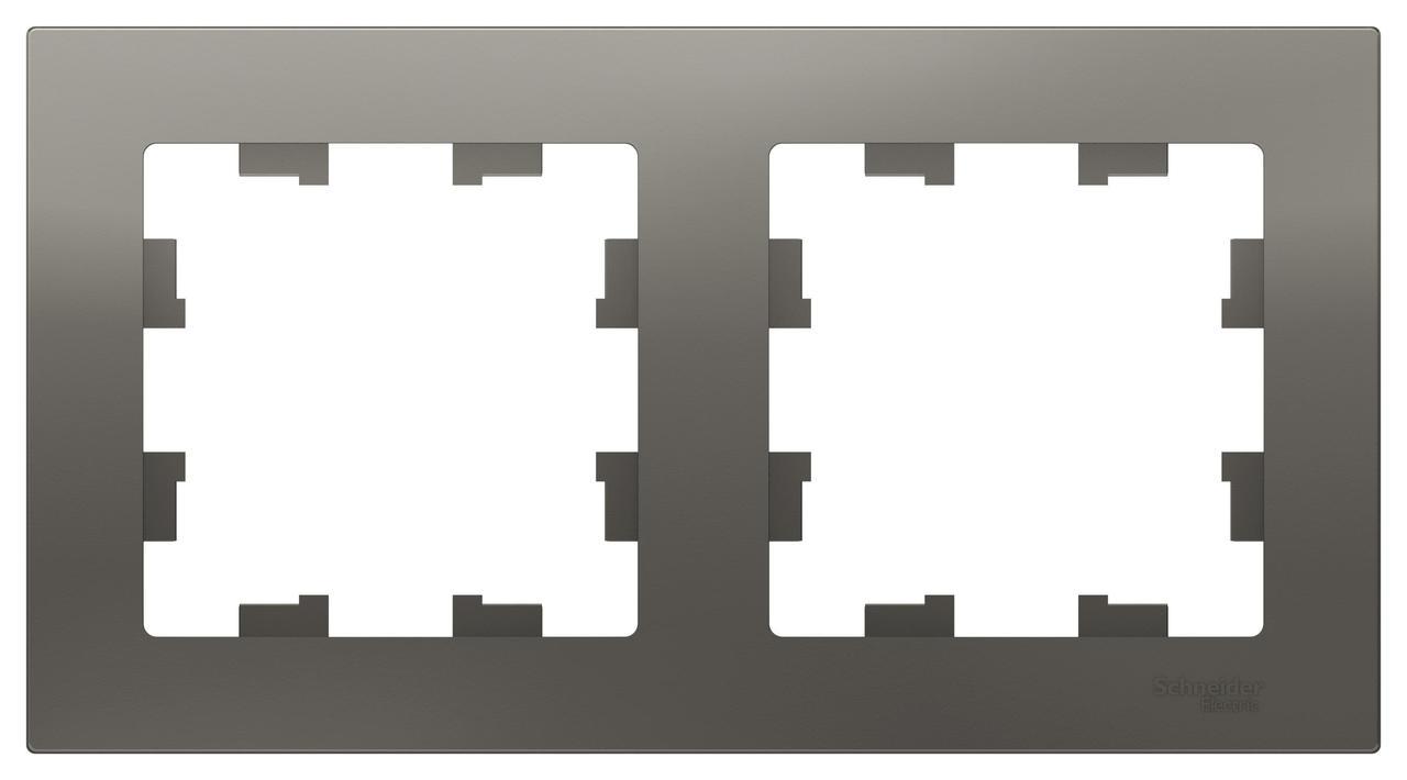 Рамка 2-ая (двойная), Сталь, серия Atlas Design, Schneider Electric