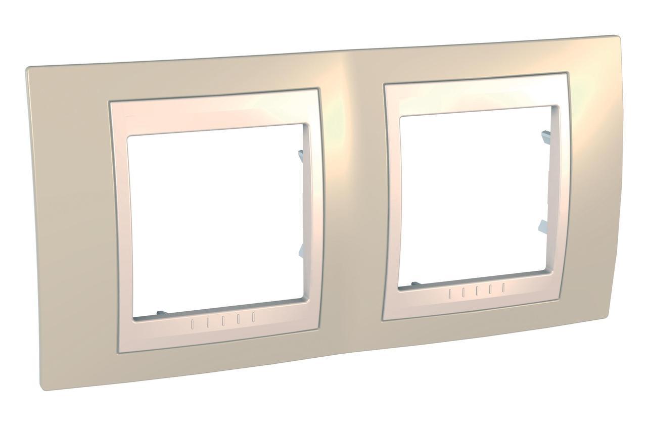 Рамка 2-ая (двойная), Песчаный/Бежевый, серия Unica, Schneider Electric