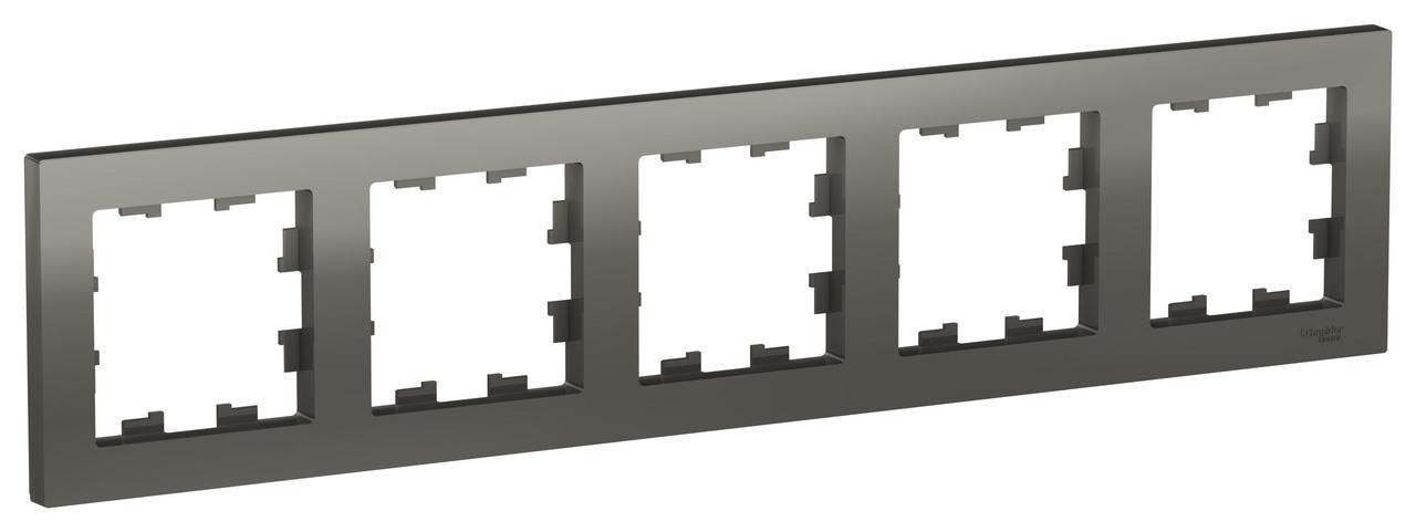Рамка 5-ая (пятерная), Сталь, серия Atlas Design, Schneider Electric