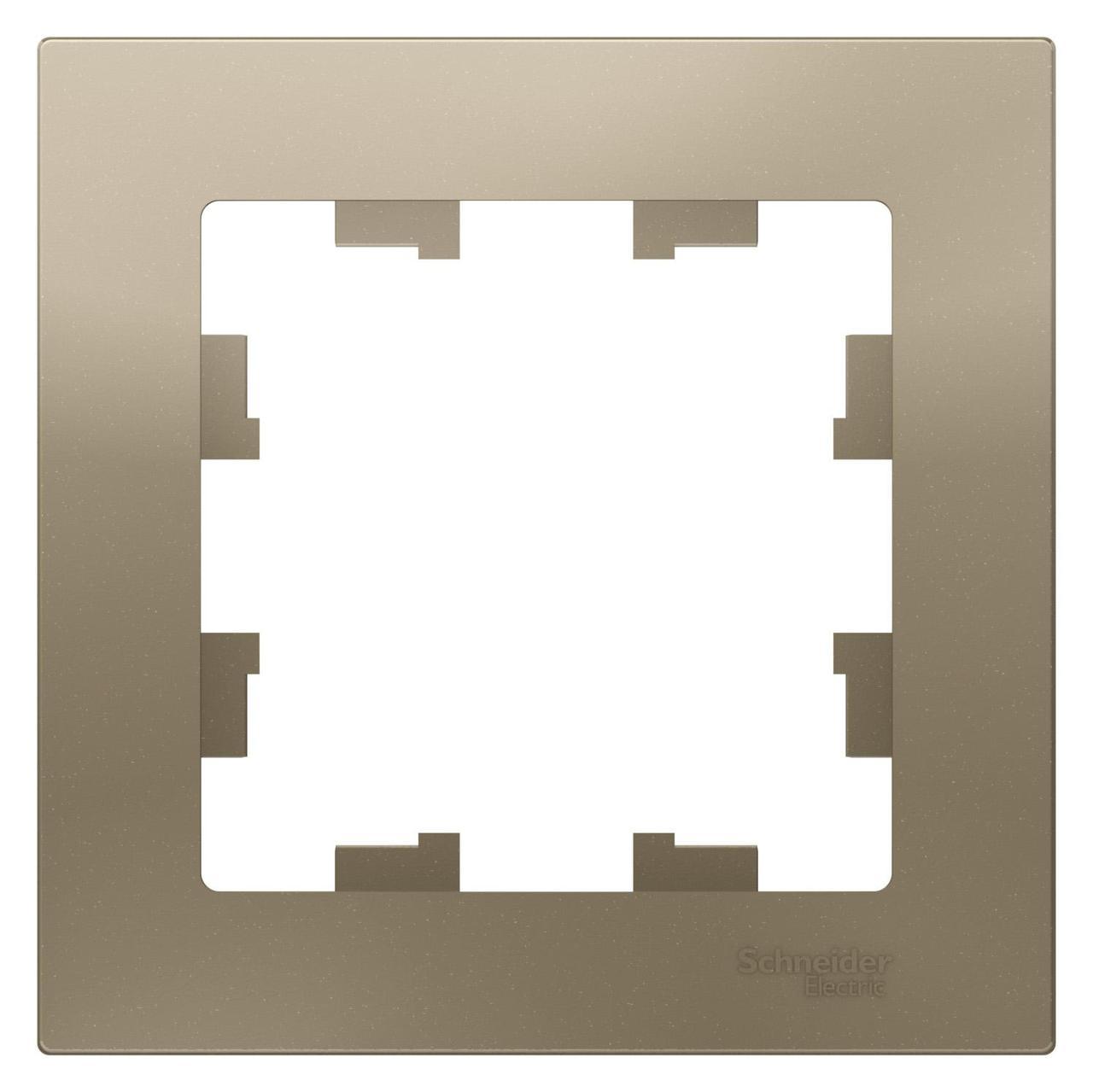 Рамка 1-ая (одинарная), Шампань, серия Atlas Design, Schneider Electric