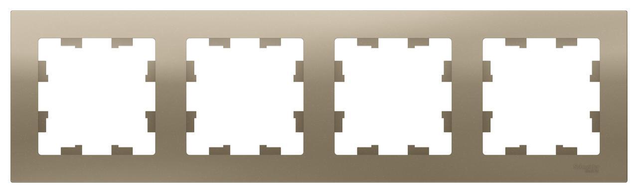 Рамка 4-ая (четверная), Шампань, серия Atlas Design, Schneider Electric