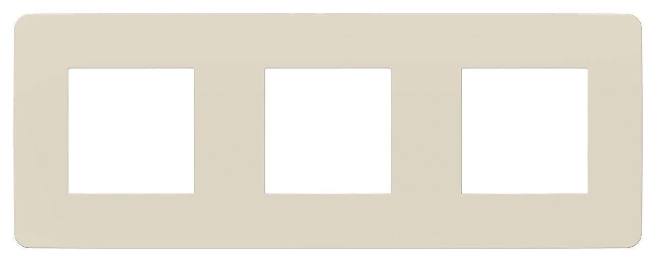 Рамка 3-ая (тройная), Бежевый, серия Unica Studio, Schneider Electric