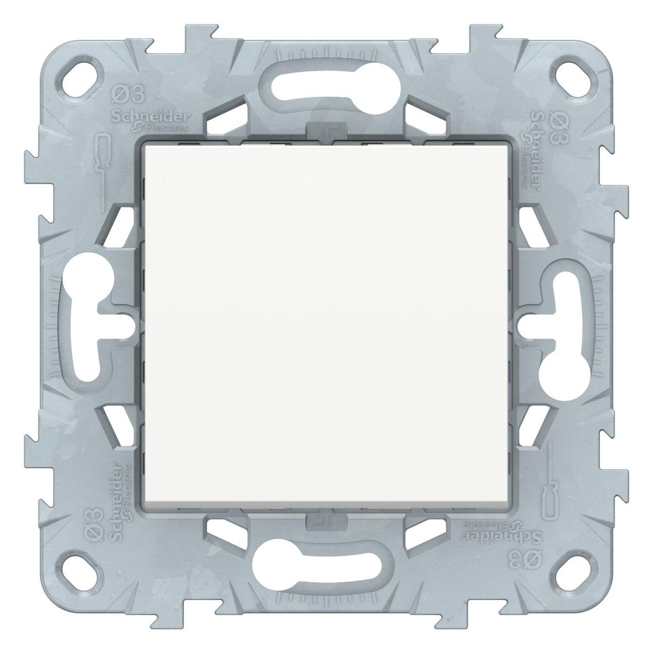 Выключатель 1-клавишный, перекрестный (с трех мест) , Белый, серия Unica New, Schneider Electric