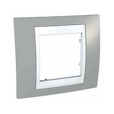 Рамка 1-ая (одинарная), Серый/Белый, серия Unica, Schneider Electric