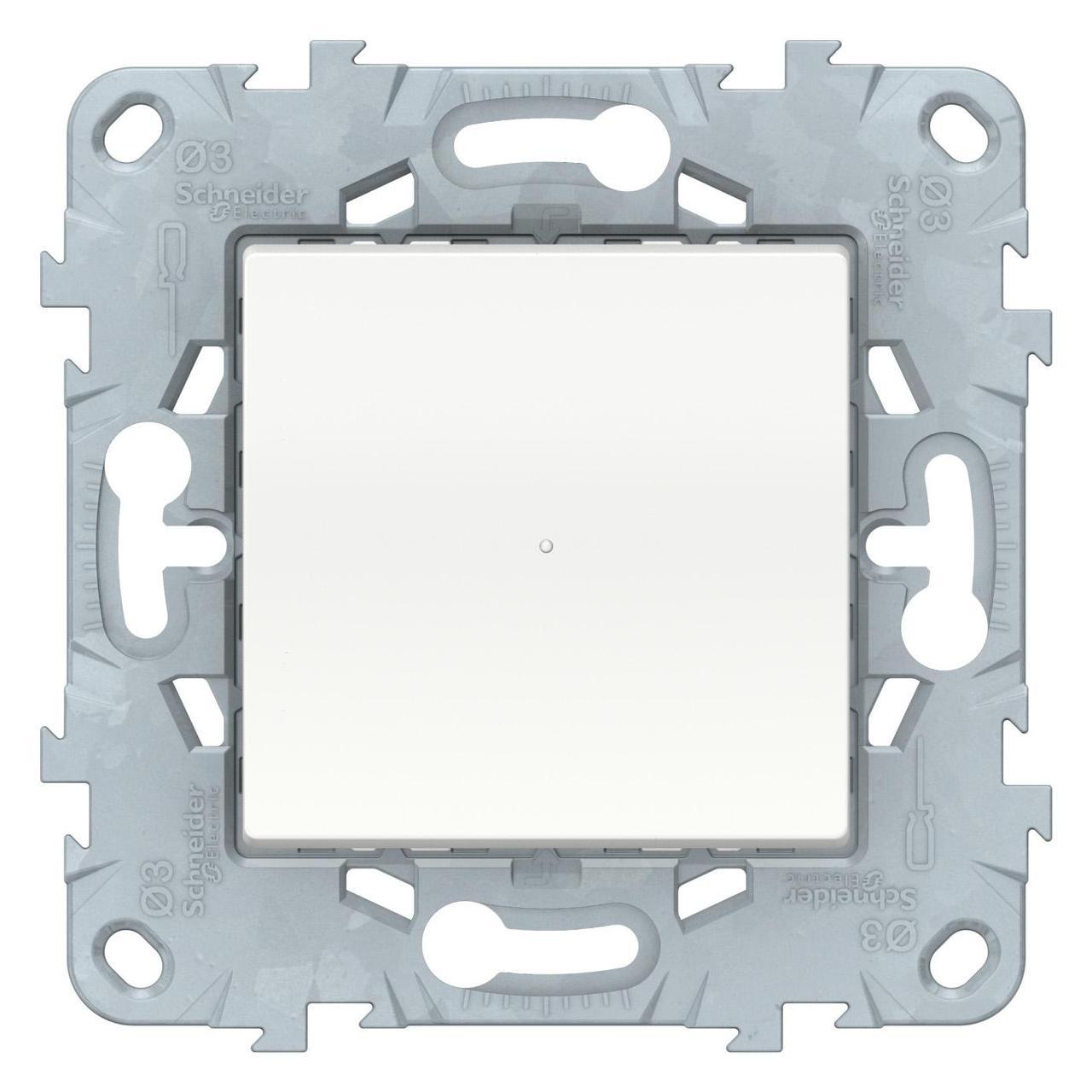 Диммер нажимной (кнопочный) 300Вт универсальный , Белый, серия Unica New, Schneider Electric