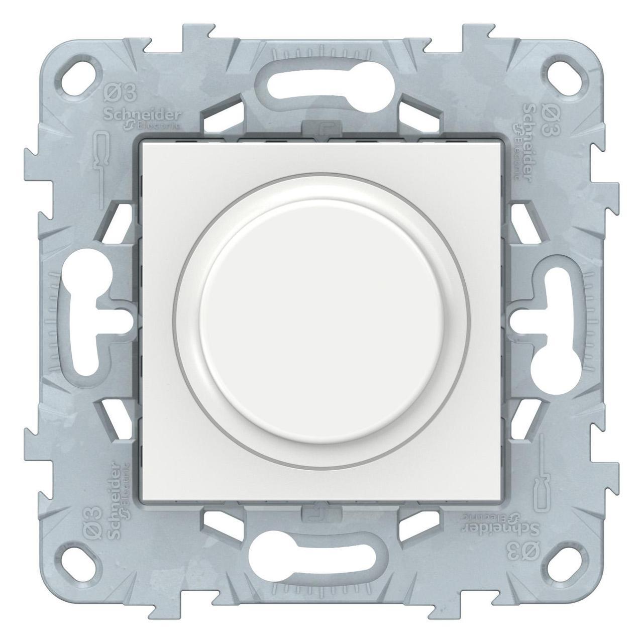 Диммер поворотно-нажимной , 400Вт для л/н и эл.трансф. , Белый, серия Unica New, Schneider Electric