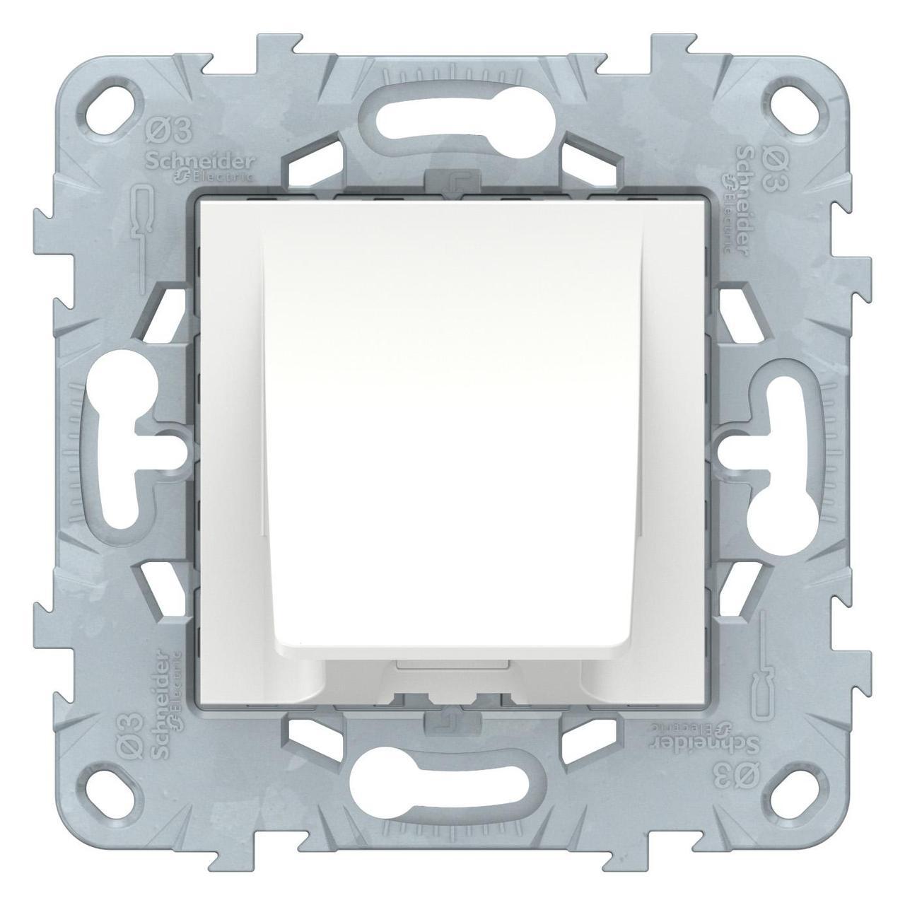 Кабельный вывод , Белый, серия Unica New, Schneider Electric