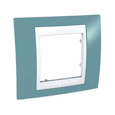 Рамка 1-ая (одинарная), Синий/Белый, серия Unica, Schneider Electric