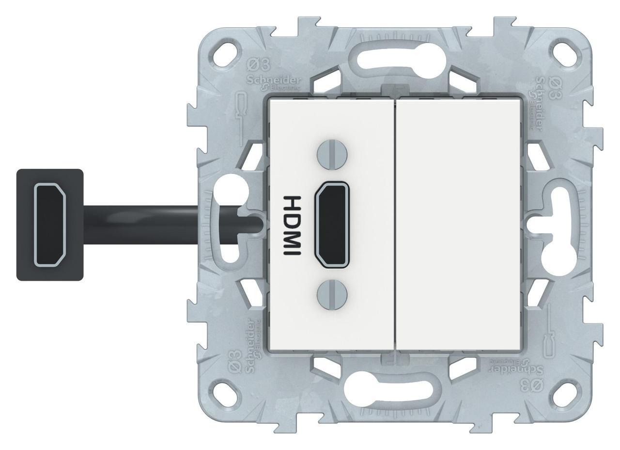 Розетка HDMI , Белый, серия Unica New, Schneider Electric