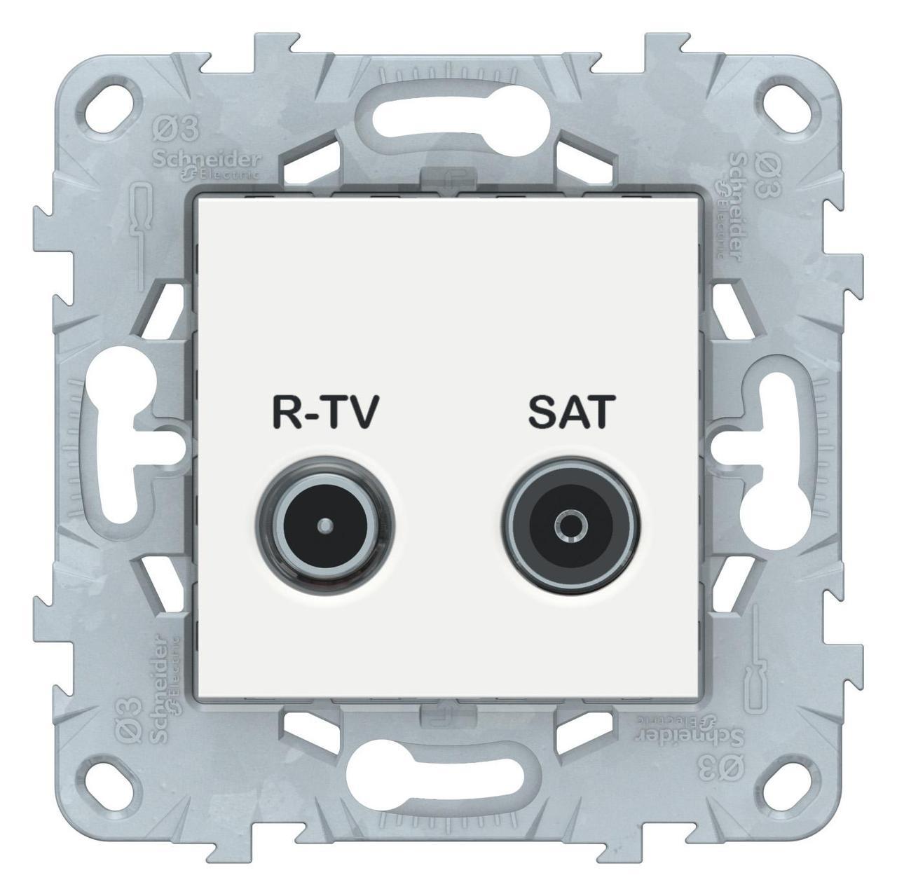 Розетка телевизионная единственная ТV-SAT , Белый, серия Unica New, Schneider Electric