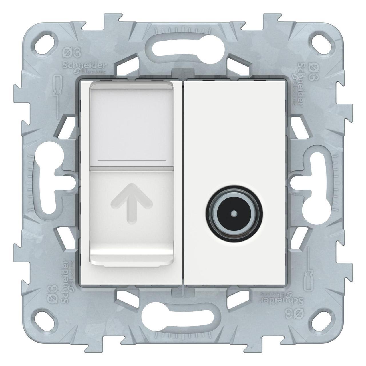 Розетка телевизионная/компьютерная , Белый, серия Unica New, Schneider Electric