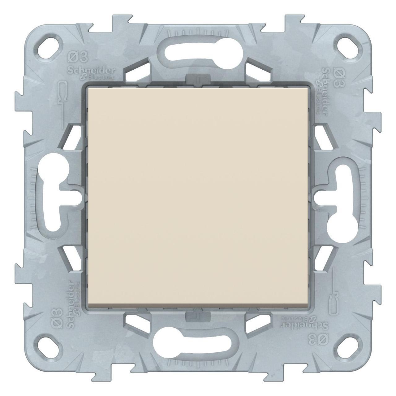 Выключатель 1-клавишный , Бежевый, серия Unica New, Schneider Electric