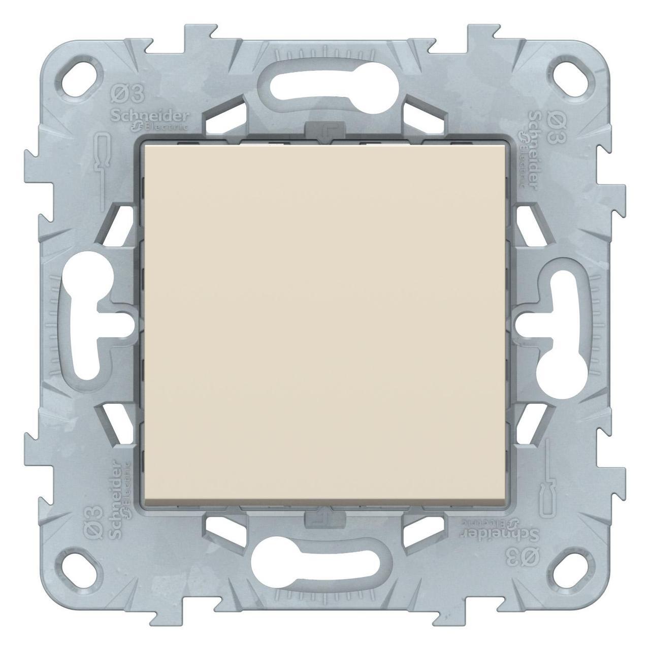 Выключатель 1-клавишный, перекрестный (с трех мест) , Бежевый, серия Unica New, Schneider Electric