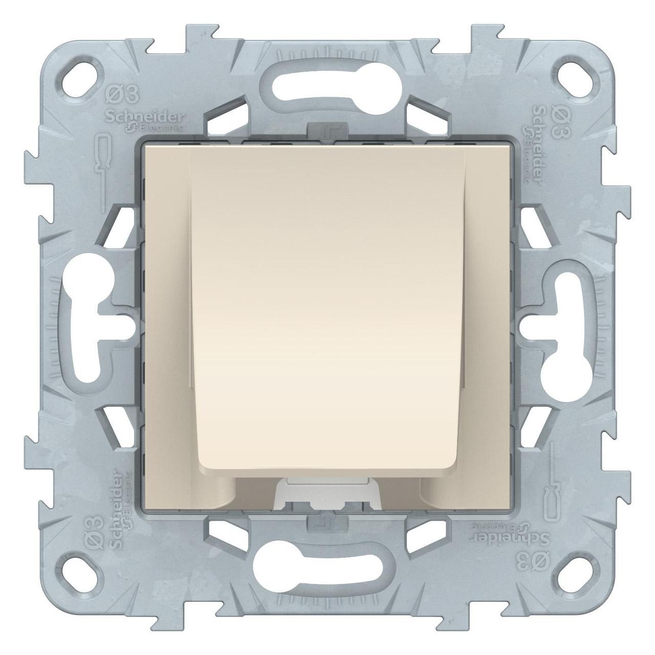 Кабельный вывод , Бежевый, серия Unica New, Schneider Electric