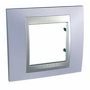 Рамка 1-ая (одинарная), Берилл/Алюминий (металл), серия UNICA TOP/CLASS, Schneider Electric
