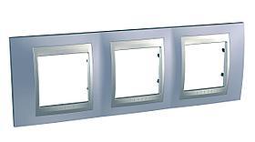 Рамка 3-ая (тройная), Берилл/Алюминий (металл), серия UNICA TOP/CLASS, Schneider Electric