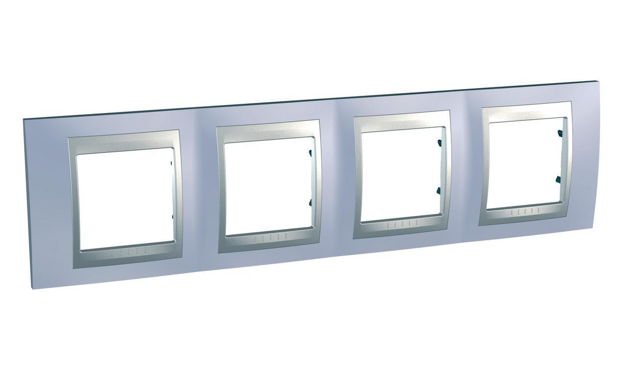 Рамка 4-ая (четверная), Берилл/Алюминий (металл), серия UNICA TOP/CLASS, Schneider Electric