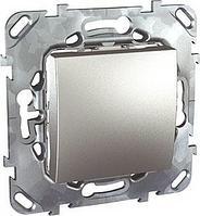 Выключатель 1-клавишный , Алюминий, серия UNICA TOP/CLASS, Schneider Electric