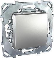 Выключатель 1-клавишный, перекрестный (с трех мест) , Алюминий, серия UNICA TOP/CLASS, Schneider Electric