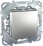 Выключатель 1-клавишный; кнопочный , Алюминий, серия UNICA TOP/CLASS, Schneider Electric