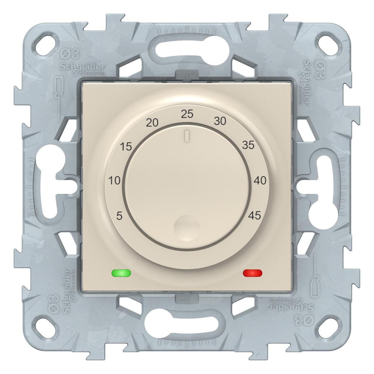 Терморегулятор для теплого пола , Бежевый, серия Unica New, Schneider Electric