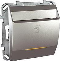 Выключатель карточный с задержкой отключения, для гостиниц , Алюминий, серия UNICA TOP/CLASS, Schneider