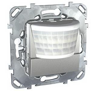 Датчик движения 400Вт без ручн.упр. 2-х проводная схема , Алюминий, серия UNICA TOP/CLASS, Schneider Electric