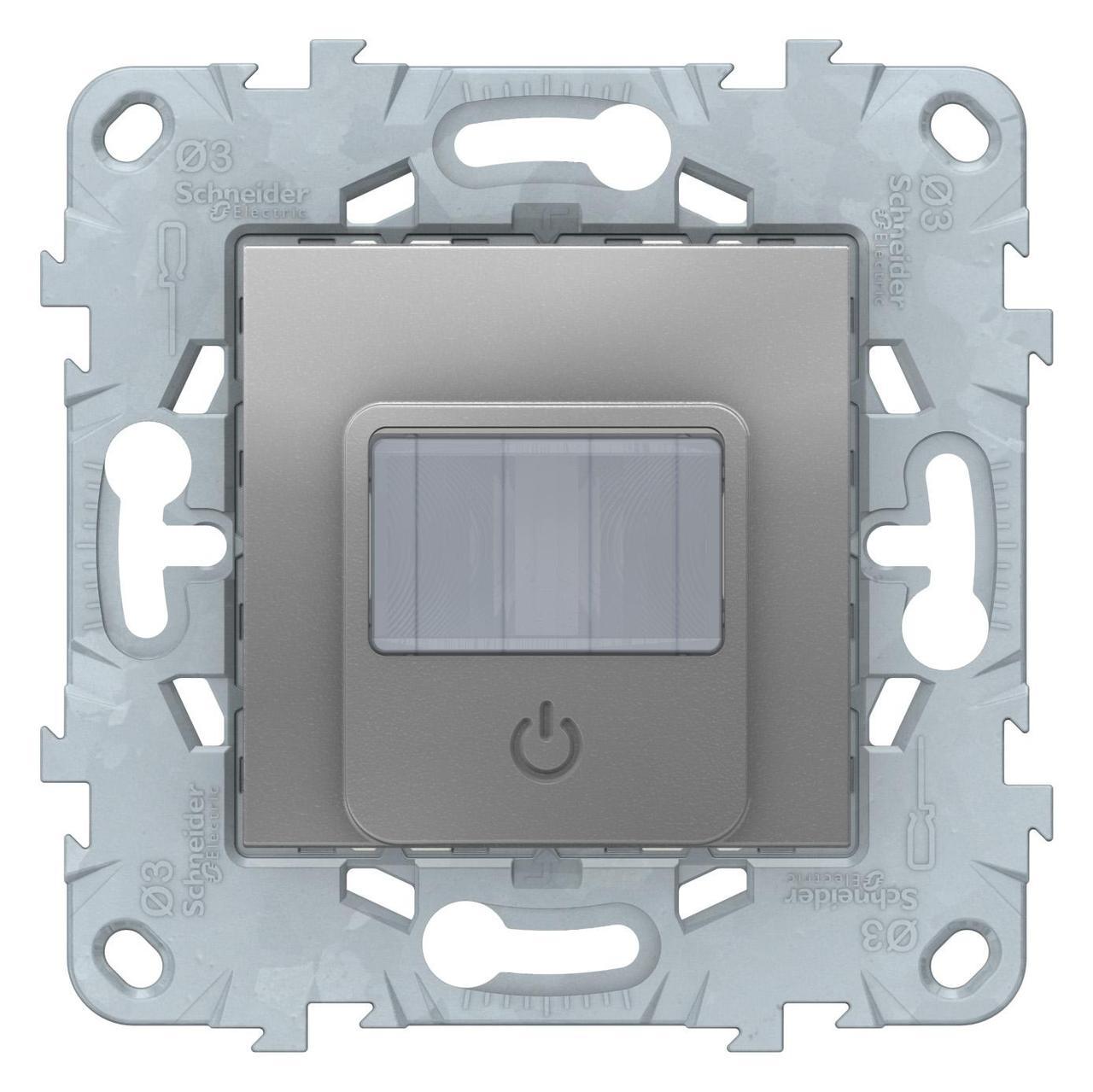 Датчик движения 2300Вт с ручн.упр. 3-х проводная схема, реле , Алюминий, серия Unica New, Schneider Electric