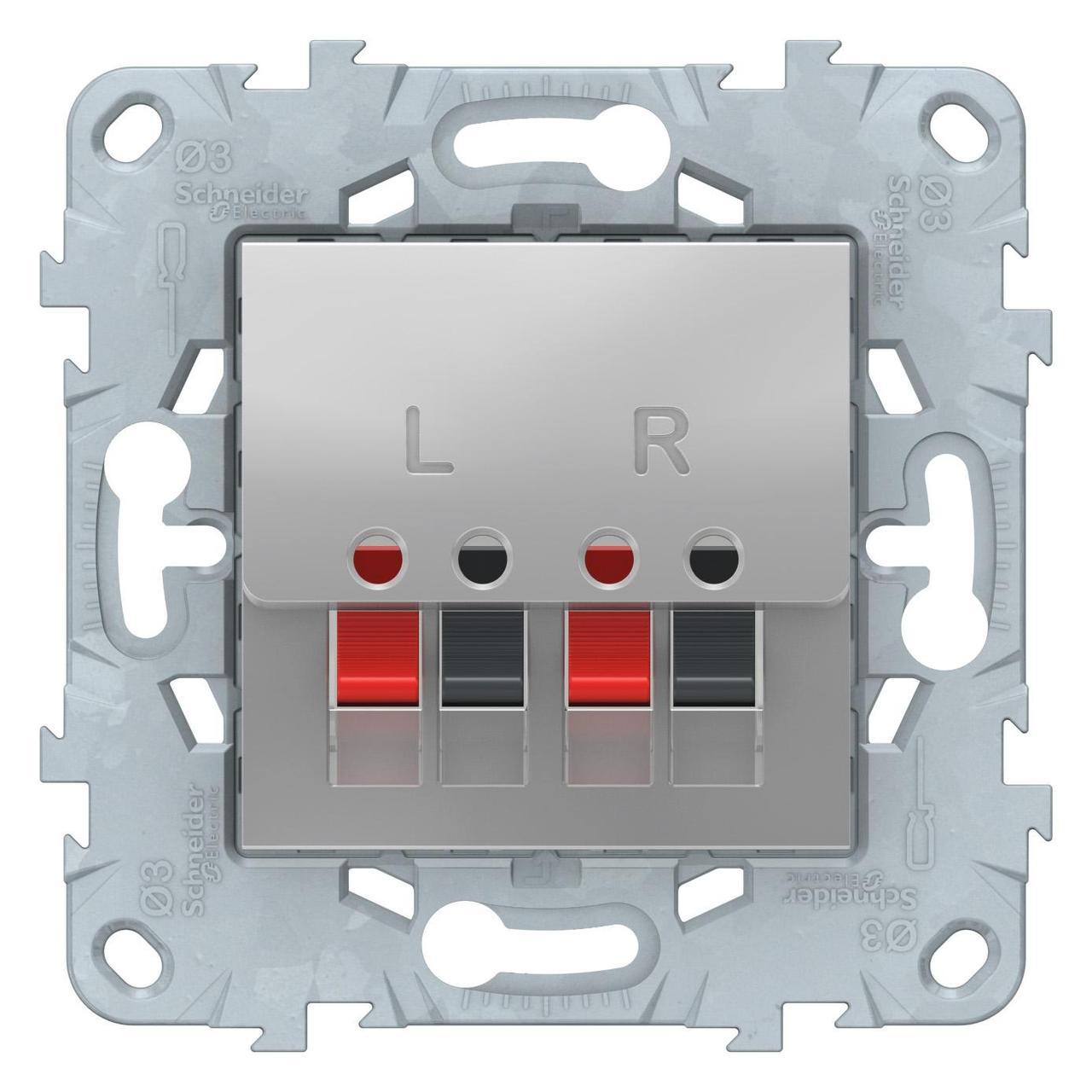 Розетка аудио для колонок 1-ая , Алюминий, серия Unica New, Schneider Electric