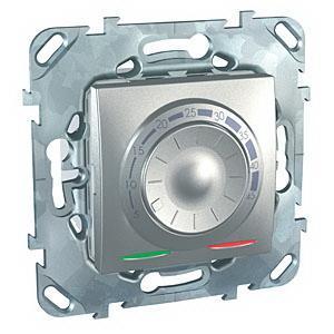 Терморегулятор для теплого пола , Алюминий, серия UNICA TOP/CLASS, Schneider Electric