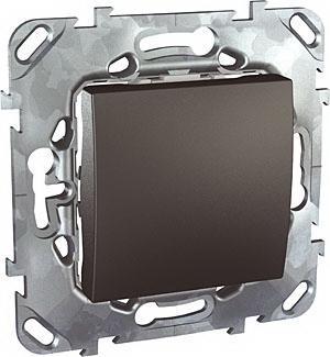Выключатель 1-клавишный ,проходной (с двух мест) , Графит, серия UNICA TOP/CLASS, Schneider Electric