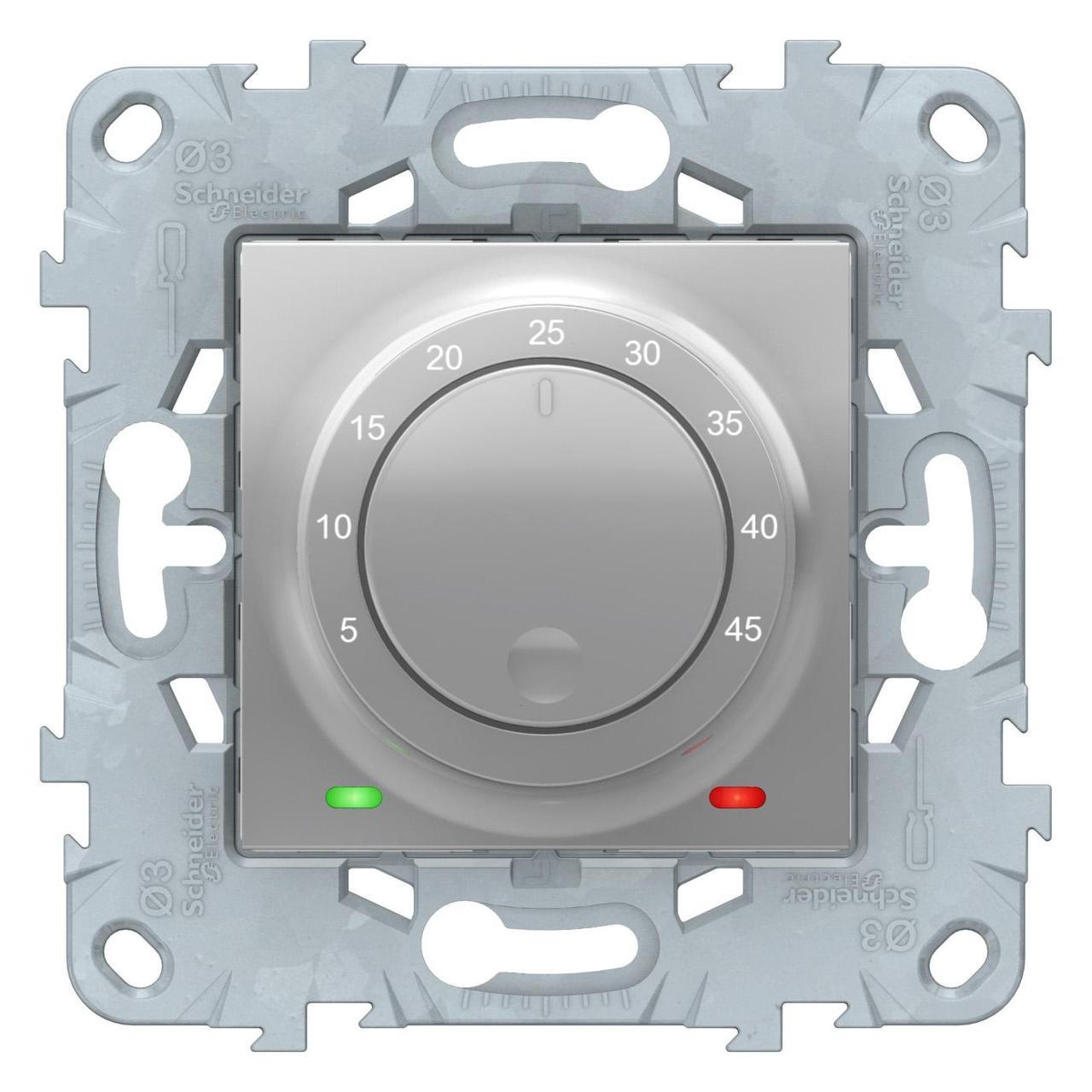 Терморегулятор для теплого пола , Алюминий, серия Unica New, Schneider Electric