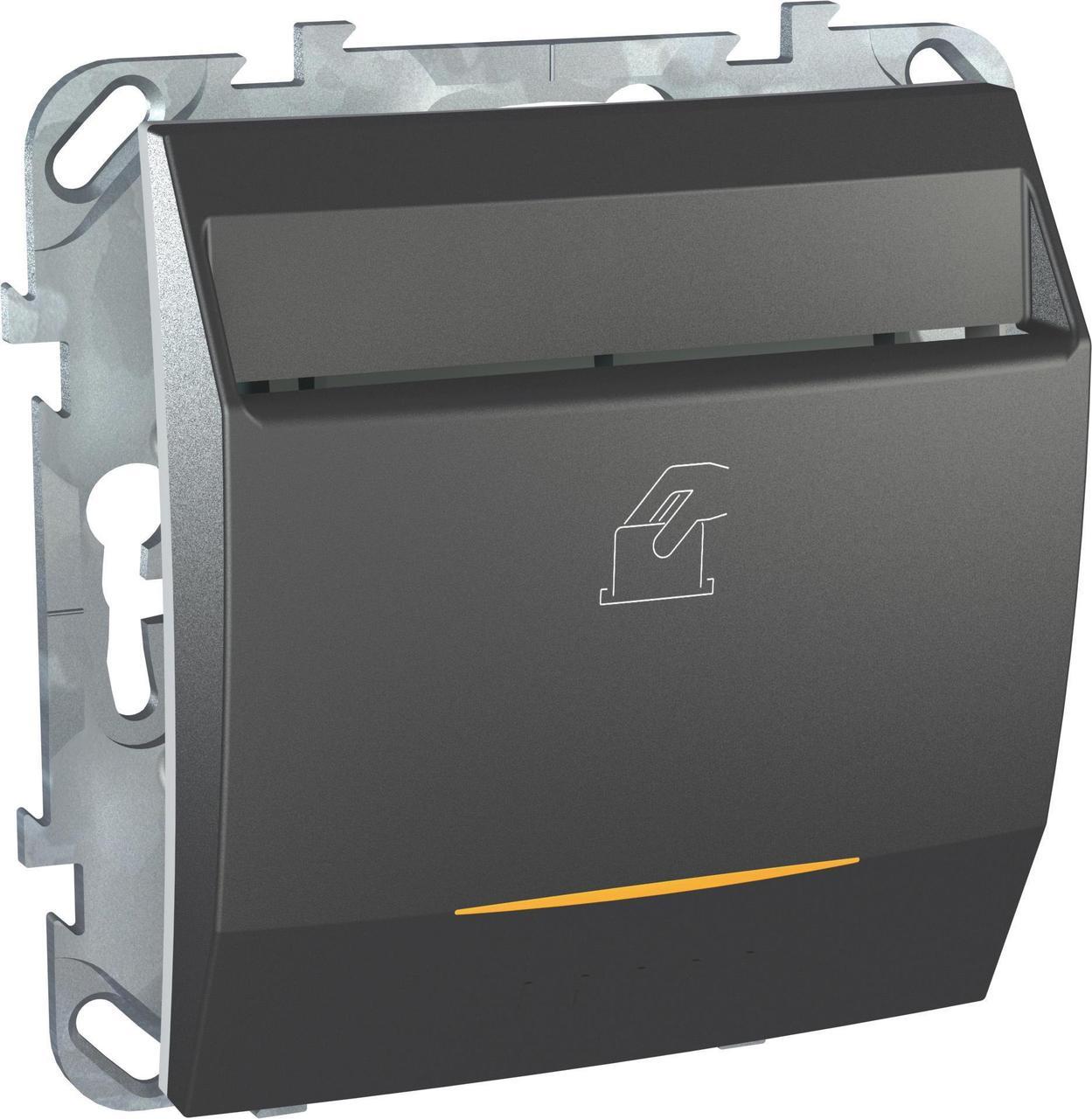 Выключатель карточный для гостиниц , Графит, серия UNICA TOP/CLASS, Schneider Electric