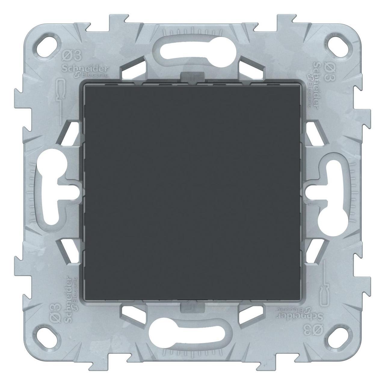 Заглушка , Антрацит, серия Unica New, Schneider Electric