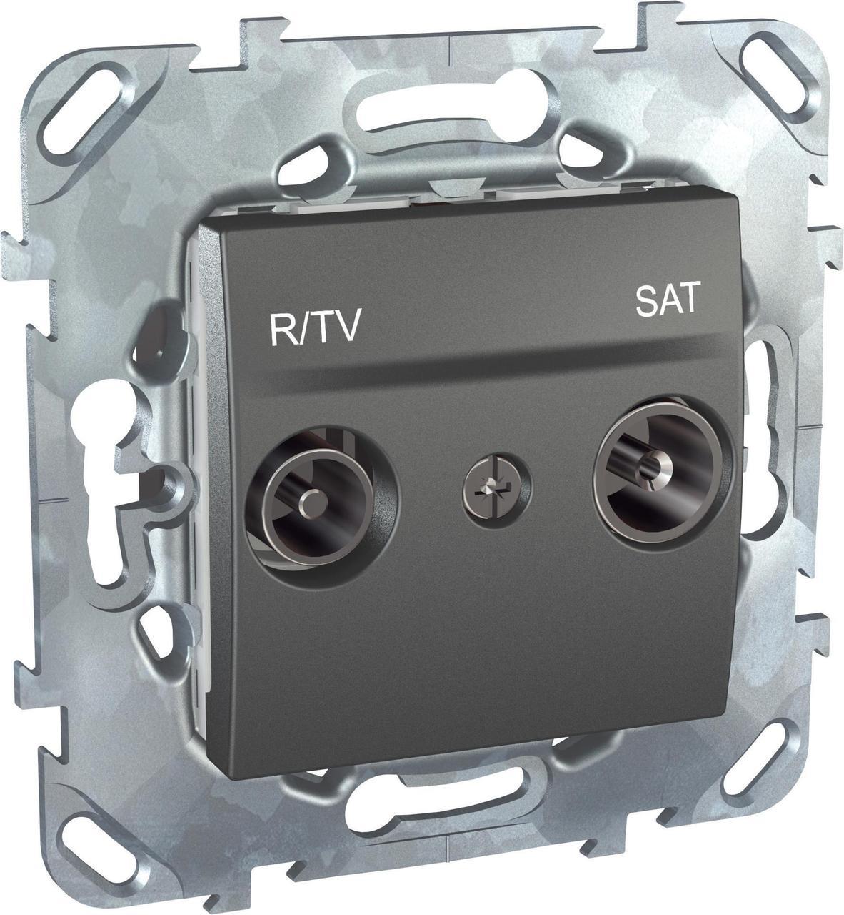 Розетка телевизионная единственная ТV-FМ-SАТ , Графит, серия UNICA TOP/CLASS, Schneider Electric