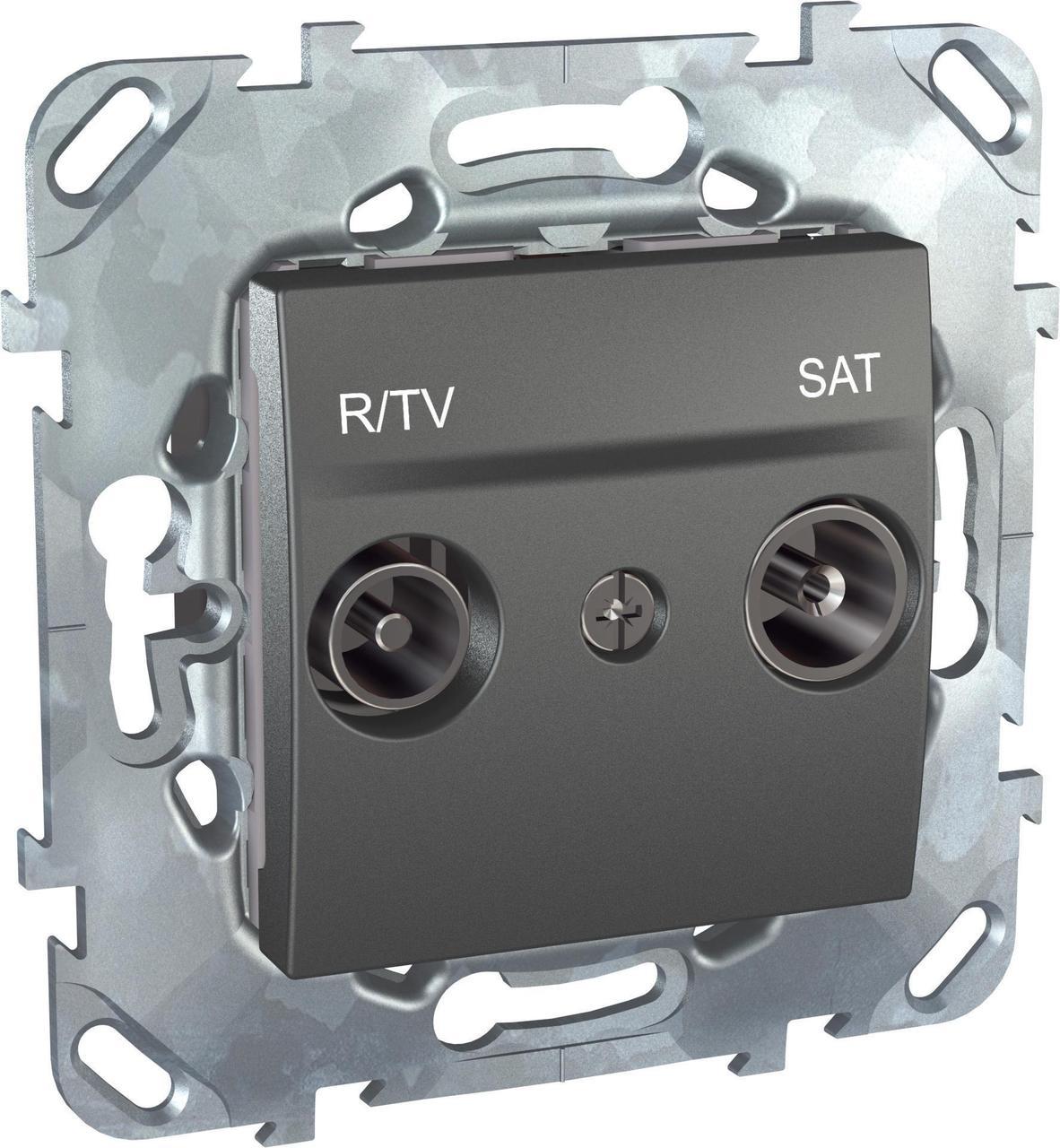 Розетка телевизионная оконечная ТV-FМ-SАТ , Графит, серия UNICA TOP/CLASS, Schneider Electric