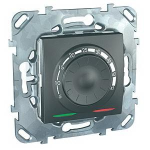 Терморегулятор для теплого пола , Графит, серия UNICA TOP/CLASS, Schneider Electric
