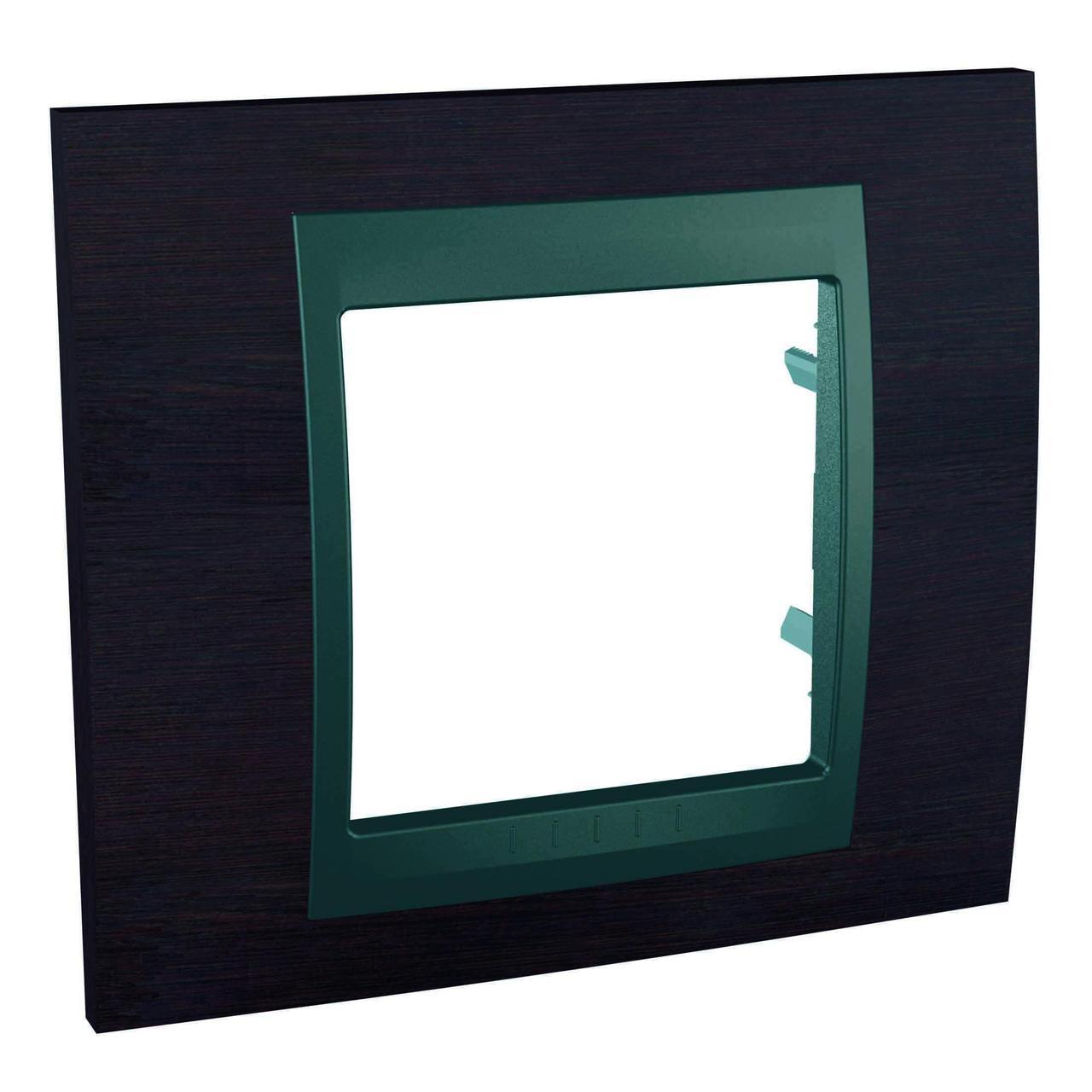 Рамка 1-ая (одинарная), Дерево Венге/Графит, серия UNICA TOP/CLASS, Schneider Electric