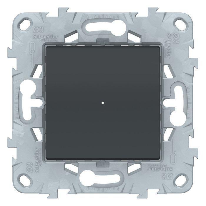 Электронный релейный выключатель , Антрацит, серия Unica New, Schneider Electric